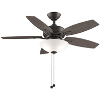 Fanimation FP6245BGR Aire Deluxe 44 inch Matte Greige with Weathered Wood Blades Indoor/Outdoor Ceiling Fan