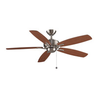 Aire Deluxe 52 inch Brushed Nickel with Cherry/Dark Walnut Blades Ceiling Fan