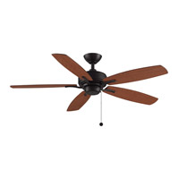 Fanimation FP6284DZ Aire Deluxe 52 inch Dark Bronze with Cherry/Dark Walnut Blades Indoor/Outdoor Ceiling Fan