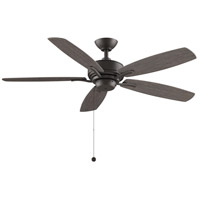 Fanimation FP6284GR Aire Deluxe 52 inch Matte Greige with Weathered Wood Blades Ceiling Fan