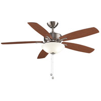 Fanimation FP6285BBN Aire Deluxe 52 inch Brushed Nickel with Cherry/Dark Walnut Blades Indoor/Outdoor Ceiling Fan