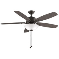 Fanimation FP6285BGR Aire Deluxe 52 inch Matte Greige with Weathered Wood Blades Indoor/Outdoor Ceiling Fan