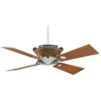 Fanimation Mavrik Indoor Ceiling Fan in Chrome/Crocodile Faux Leather with Cherry Blades 220v FP6510CR-220