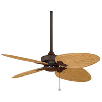 Fanimation Windpointe Indoor Ceiling Fan in Rust with Sambel Sand Carved Wood Blades FP7400RS