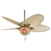 Fanimation FP7500AB Windpointe 10 inch Antique Brass Nanrrow Oval Natural Palm Ceiling Fan in 110 Volts, Narrow Oval Natural Palm alternative photo thumbnail