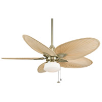 Light-Kits 1 Light Antique Brass Fan Light Kits in 110 Volts