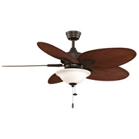 Fanimation Windpointe Indoor Ceiling Fan in Oil-Rubbed Bronze with Red Brown Blades FP7500OBP4LK
