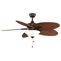 Fanimation Windpointe Indoor Ceiling Fan in Rust with Red Brown Blades FP7500RSP4LK