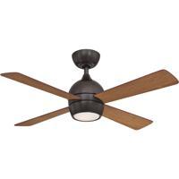 Fanimation FP7644DZ Kwad 44 44 inch Dark Bronze with Cherry/Dark Walnut Blades Indoor/Outdoor Ceiling Fan