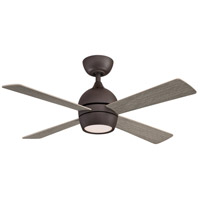 Fanimation FP7644GR Kwad 44 44 inch Matte Greige with Weathered Wood Blades Indoor/Outdoor Ceiling Fan