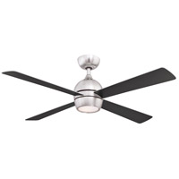Fanimation FP7652BN Kwad 52 52 inch Brushed Nickel with Brushed Nickel/Black Blades Indoor/Outdoor Ceiling Fan