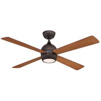 Fanimation FP7652DZ Kwad 52 52 inch Dark Bronze with Cherry/Dark Walnut Blades Ceiling Fan