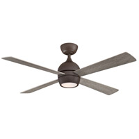 Fanimation FP7652GR Kwad 52 52 inch Matte Greige with Weathered Wood Blades Indoor/Outdoor Ceiling Fan