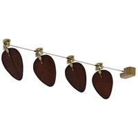 Punkah Antique Woven Bamboo (sold separately) 14 inch each Fan Blade in Antique Brass, Motor Only