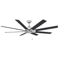 Fanimation FP7910BNBL Levon AC 63 inch Brushed Nickel with Brushed Nickel/Black Blades Indoor/Outdoor Ceiling Fan