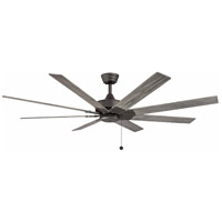 Fanimation FP7910GR Levon AC 63 inch Matte Greige with Weathered Wood Blades Indoor/Outdoor Ceiling Fan