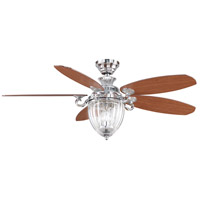Fanimation Stonehill Indoor Ceiling Fan in Chrome with Cherry/Walnut Blades FP7953CH photo thumbnail