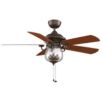 Fanimation Crestford Indoor Ceiling Fan in Oil-Rubbed Bronze with Cherry/Walnut Blades FP7954OB