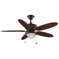 Kaya 52 inch Rust with Cherry/Bronze Blades Ceiling Fan