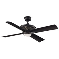Fanimation FP7996BLBNW Pickett 52 inch Black Indoor/Outdoor Ceiling Fan in Black with Brushed Nickel Accents