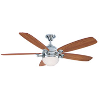 Fanimation Akira Indoor Ceiling Fan in Polished Nickel with Walnut/Mahogany Blades FP8000PN