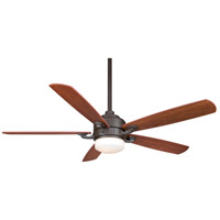 Benito 8 inch Oil-Rubbed Bronze with Walnut/Mahogany Blades Ceiling Fan in 1, 110 Volts
