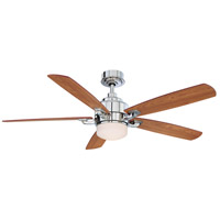 Fanimation Benito Indoor Ceiling Fan in Polished Nickel with Cherry/Walnut Blades FP8003PN