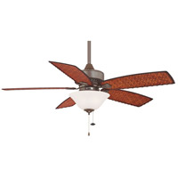 Fanimation Cancun Indoor Ceiling Fan in Oil-Rubbed Bronze with Dark Brown/Red Tight Weave Blades FP8009OB alternative photo thumbnail