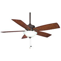 Fanimation Cancun Indoor Ceiling Fan in Oil-Rubbed Bronze with Dark Brown/Red Tight Weave Blades FP8011OB