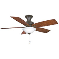Fanimation Cancun Indoor Ceiling Fan in Oil-Rubbed Bronze with Dark Brown/Red Tight Weave Blades FP8011OB alternative photo thumbnail