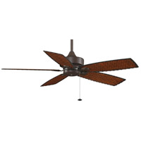 Fanimation Cancun Outdoor Ceiling Fan in Oil-Rubbed Bronze with Antique Woven Bamboo Blades FP8012OB