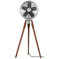 Arden Satin Nickel 44 inch Pedestal Fan in 220 Volts