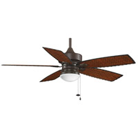 Cancun 52 inch Oil-Rubbed Bronze with Antique Woven Bamboo Blades Ceiling Fan