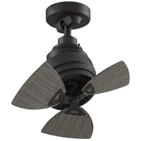 Fanimation FP8018GR Rotation 19 inch Matte Greige with Weathered Wood Blades Ceiling Fan