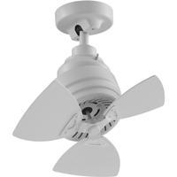 Fanimation FP8018MW Rotation 19 inch Matte White Ceiling Fan