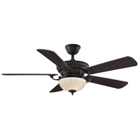 Ventana 12 inch Dark Bronze with Cherry/Dark Walnut Blades Ceiling Fan