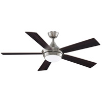 Celano V2 52 inch Brushed Nickel with Cherry and Dark Walnut Blades Ceiling Fan