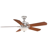 Fanimation FP8094BN Camhaven v2 52 inch Brushed Nickel with Cherry and Dark Walnut Blades Ceiling Fan