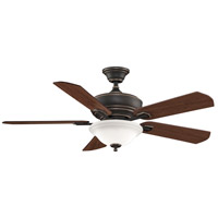 Camhaven 52 inch Bronze Accent with Cherry/Walnut Blades Ceiling Fan