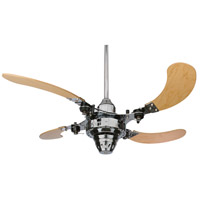 Fanimation Air Shadow Mechanical Indoor Ceiling Fan in Chrome with Maple Blades FP820CH alternative photo thumbnail