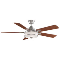 Fanimation FP8274BN Stafford 52 inch Brushed Nickel with Cherry and Dark Walnut Blades Ceiling Fan