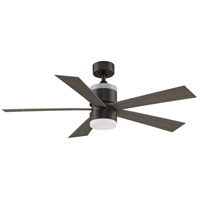 Fanimation FP8458GR Torch 52 inch Matte Greige with Weathered Wood Blades Ceiling Fan