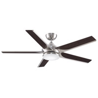 Fanimation FPD6228BN Subtle 56 56 inch Brushed Nickel with Bourbon Blades Indoor/Outdoor Ceiling Fan