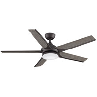 Fanimation FPD6228GR Subtle 56 56 inch Matte Greige with Weathered Wood Blades Ceiling Fan