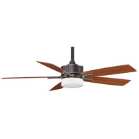 Fanimation Landan Indoor Ceiling Fan in Bronze Accent with Cherry/Walnut Blades FPD8087BA