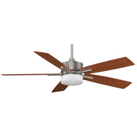 Fanimation Landan Indoor Ceiling Fan in Satin Nickel with Cherry/Maple Blades FPD8087SN