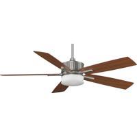 Fanimation Landan Indoor Ceiling Fan in Satin Nickel with Cherry/Maple Blades FPD8087SN photo thumbnail