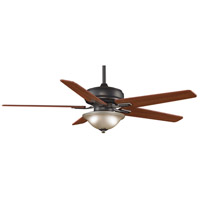 Fanimation Keistone Indoor Ceiling Fan in Bronze Accent with Cherry/Walnut Blades FPD8088BA