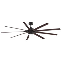 Odyn 84 inch Dark Bronze with Dark Walnut Blades Ceiling Fan
