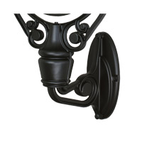 Old Havana 11 inch Black Wall Mount Wall Light